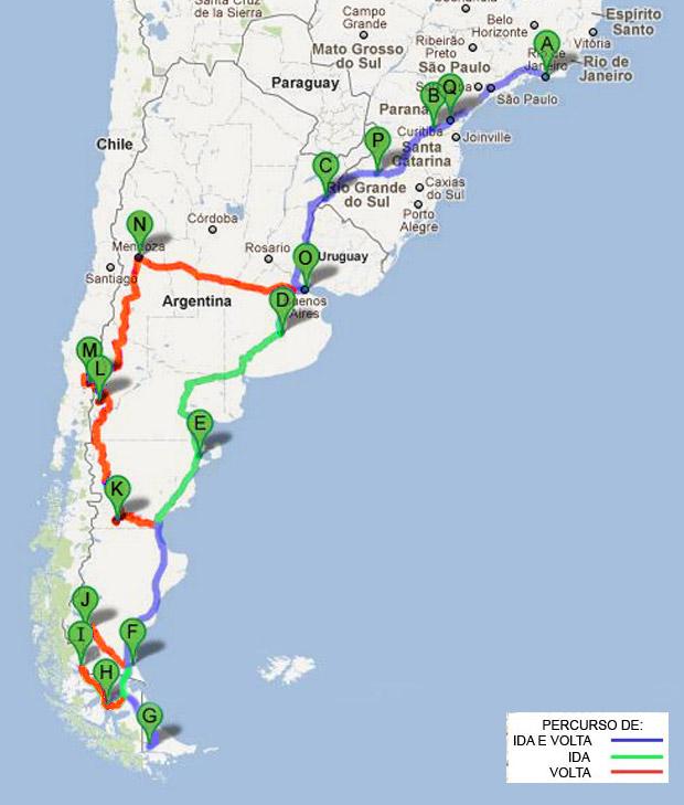 Patagônia e Mendoza – 36 dias Viaje de Carro