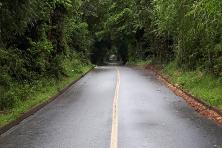 Estrada para o vulcão Osorno